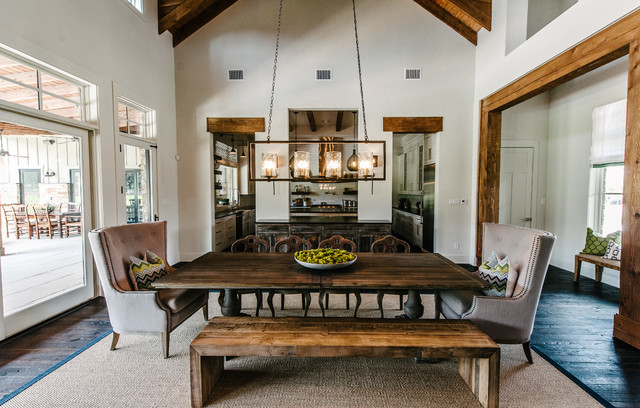 Transitional Dining Room Austin