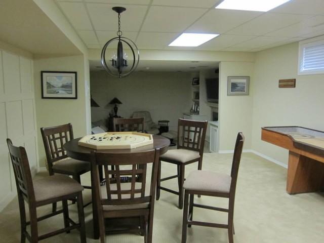 basement and man cave renovation design traditional dining room edmonton by mojo design inc. Black Bedroom Furniture Sets. Home Design Ideas