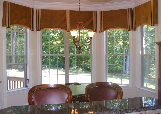 Bay Window Valances Traditional Dining Room