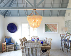 Beach Cottage in Oceanside beach style dining room
