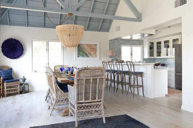 Beach cottage in oceanside beach style dining room san diego