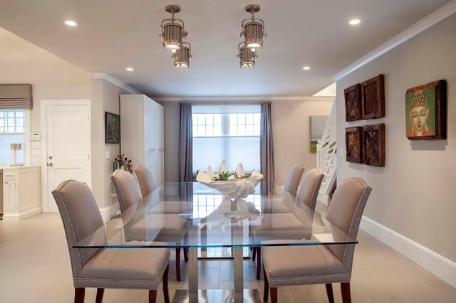 beach house - coastal style dining room - maritim - esszimmer, Esszimmer dekoo
