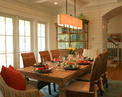 Sullivans Island Beach House tropical dining room
