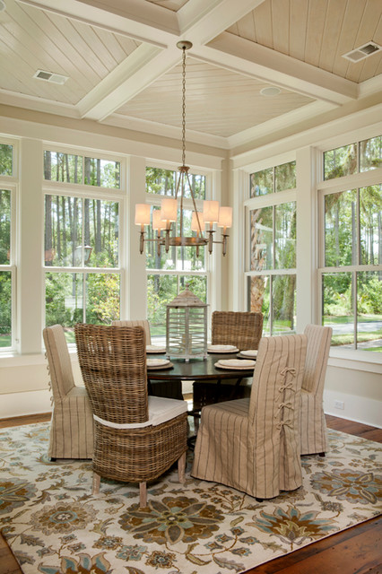 laurel beach style dining room charleston by visbeen architects. Black Bedroom Furniture Sets. Home Design Ideas