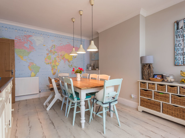 beach style house beach style dining room dorset by harbour