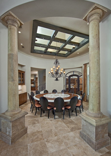 Beautiful Dining Room With Columns