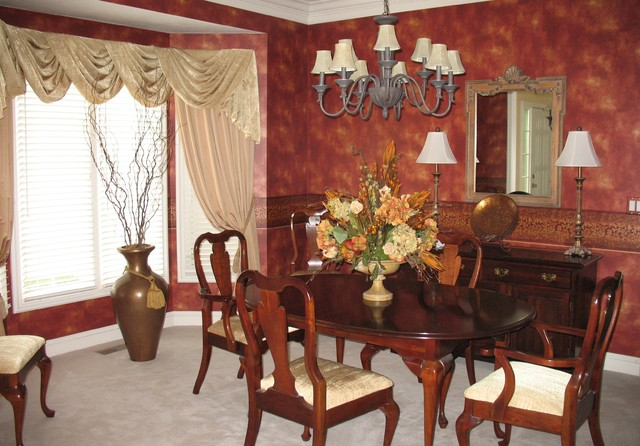 Beautiful remodel traditional dining room kansas for Beautiful traditional dining rooms