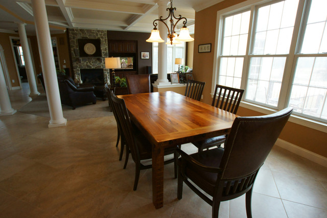 Beautiful Table Uses Refurbished Wood From Old Baltimore Estate Traditional