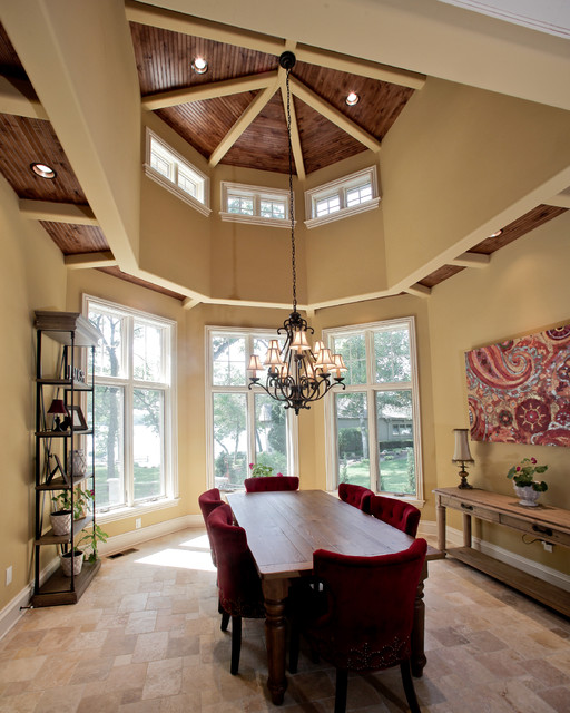 Beaver Lake Custom Home eclectic-dining-room