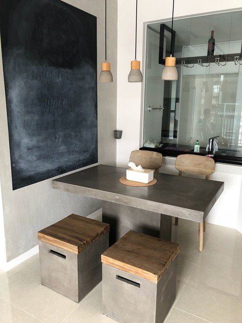 Bedok Resevoir Road - Lista Concrete Table asian-dining-room