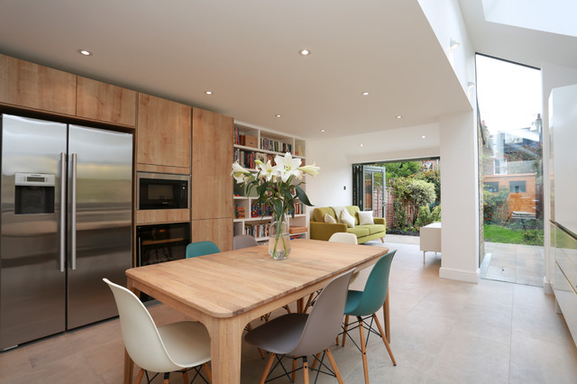 Before after kitchen extension in balham for Dining room extension ideas