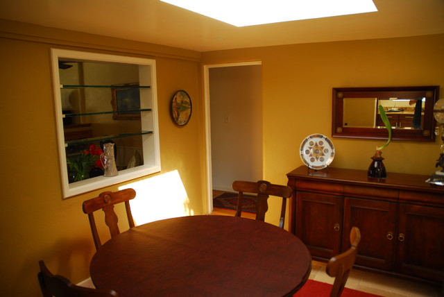 Before & After Ocean Beach transitional-dining-room