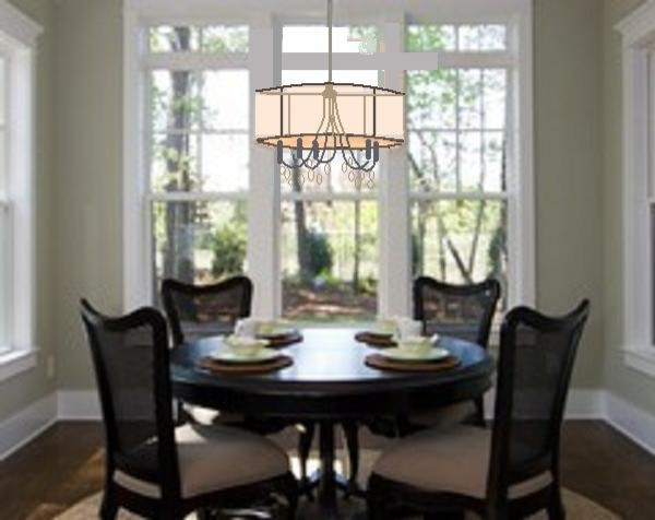 Before Chandelier and Wall contemporary-dining-room