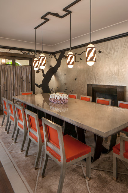 Bel air 1940 39 s inspired dining room contemporain salle Salle a manger 1940