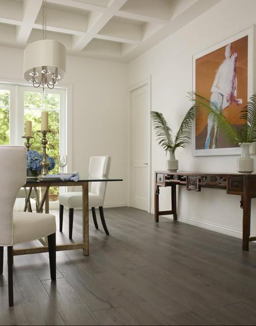 Bella cera hardwood floors tropical dining room for Tropical dining room