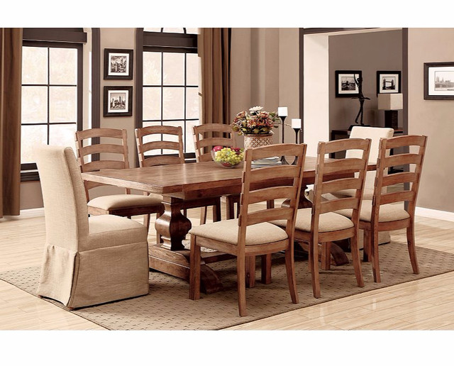 Bellaire dining group farmhouse dining room denver for Furniture row denver