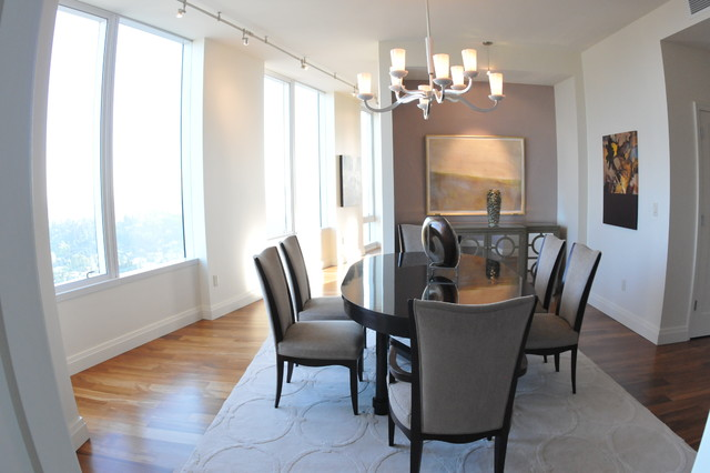 Bellevue Towers Barbara Barry Inspired Penthouse Contemporary Dining Room