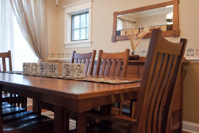 bellingham table and chairs craftsman dining room chicago by