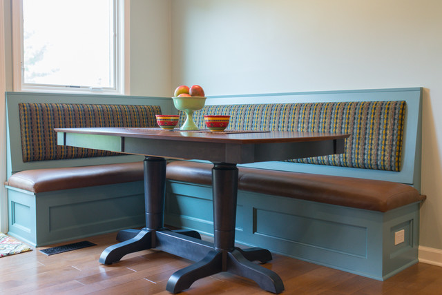 dining room table bench seat | Bench seating and dining table - Traditional - Dining Room ...