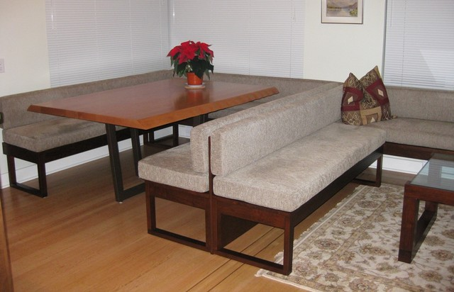 Bench seating dining and living room contemporary for L shaped dining room bench