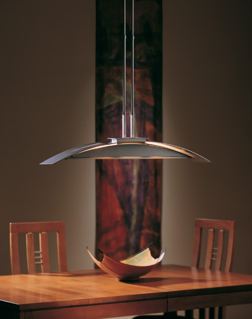 plane ceiling pendant from hubbardton forge lighting dining room