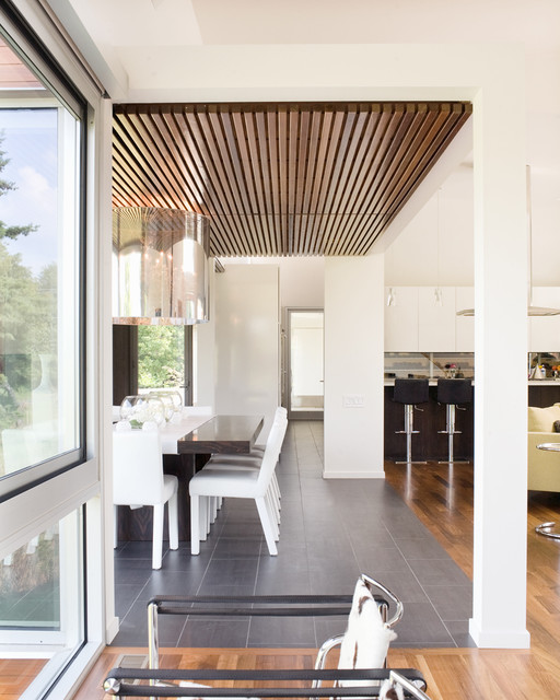 Bent/Sliced House contemporary-dining-room
