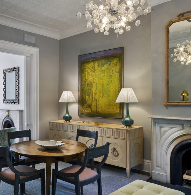 Opposites Attract Modern Art In Traditional Rooms
