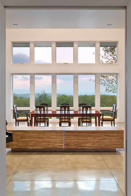 Berkshire Country House, Upstate New York contemporary dining room