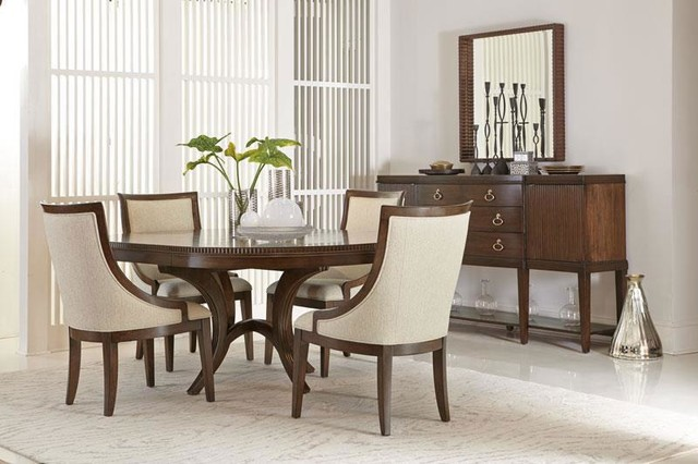 bernhardt beverly glen round dining table contemporary dining room