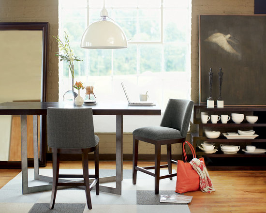 Bernhardt (Vendors) - Bernhardt Furniture: Mercer Gathering Table, Counter Stools, Console and Floor Mirror