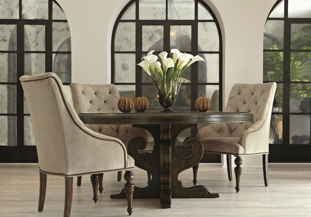 Bernhardt Villa Medici Round Dining Table - Traditional - Dining ...