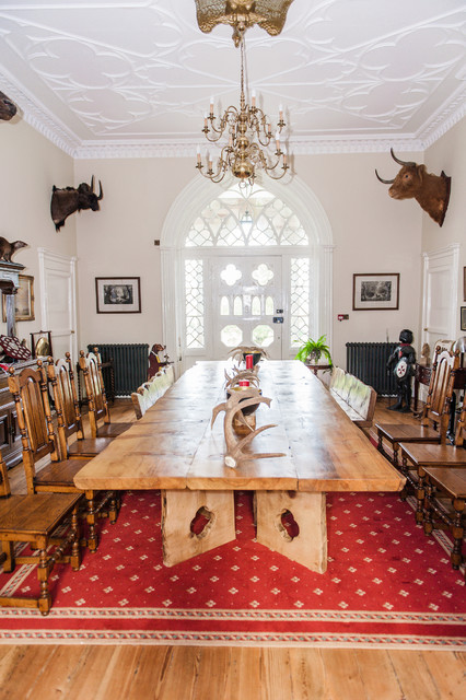 Bespoke Monkey Puzzle Castle Dining Table Rustic Room Belfast
