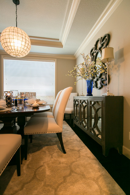 Example of a large trendy dining room design in Portland
