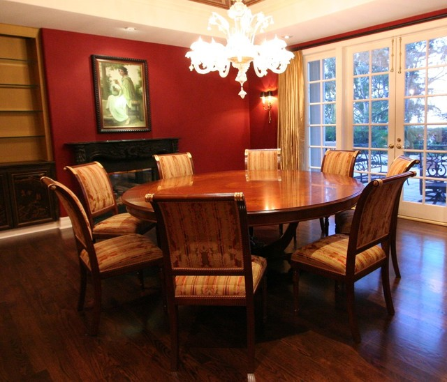 Beverly hills los angeles dining room traditional for Dining room tables los angeles