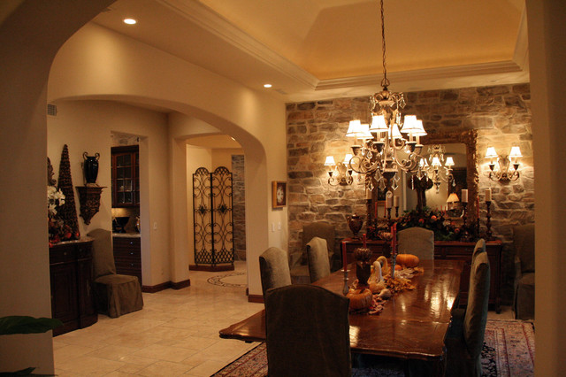 Big canyon custom home mediterranean dining room los for Big dining room ideas