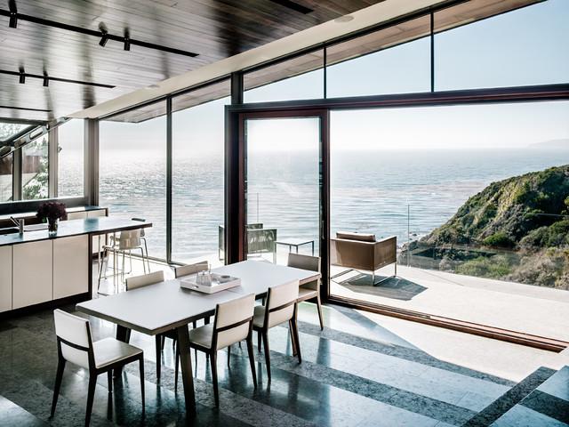 Big Sur contemporary-dining-room