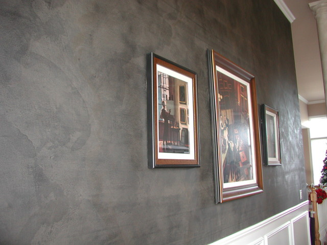 Black Plaster Accent Wall Dining Room modern-dining-room