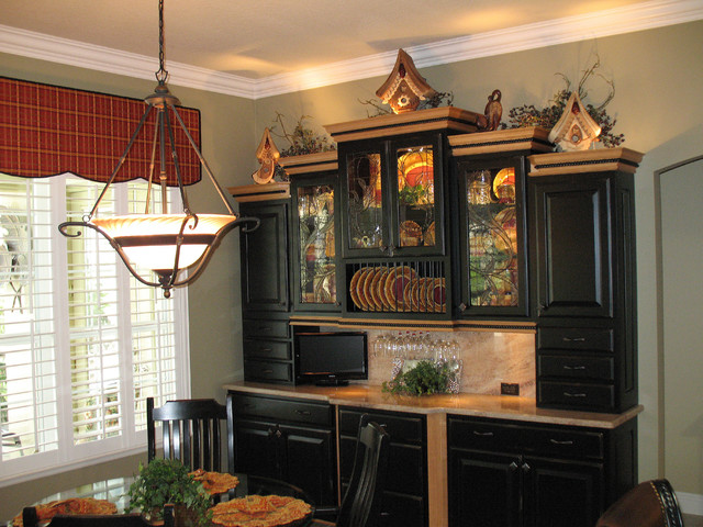 Incroyable Black Schuler Hutch Traditional Dining Room