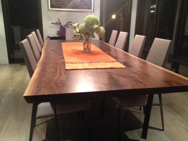 black walnut live edge table boardroom table craftsman dining room