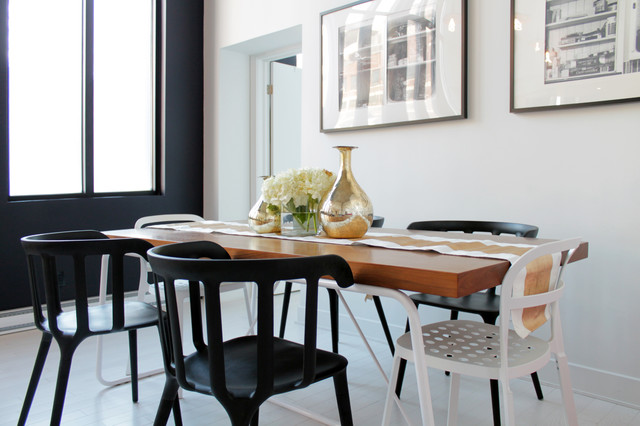 Superior Black, White And Gold Brighten A Fun, Contemporary Montreal Loft  Contemporary Dining  Awesome Ideas