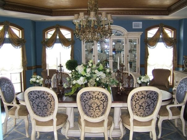 Blue U0026 Bronze Formal Dining Room Dining Room