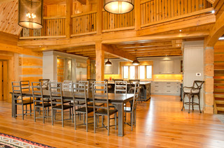 Blue Mountain On Custom Log Home Traditional Dining Room Other Metro By Legendary Group
