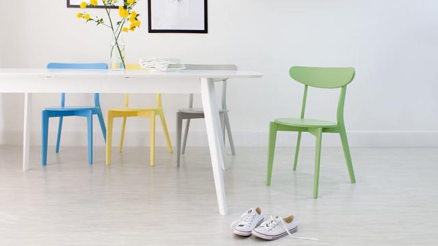 Blue Yellow Grey Green Senn Dining Chairs Contemporary