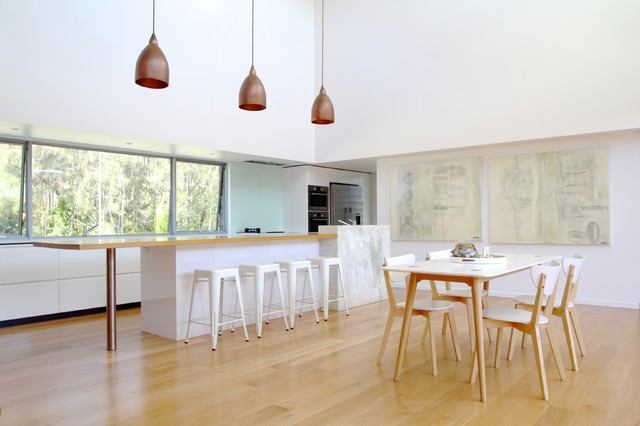 Bluff Road House contemporary-dining-room