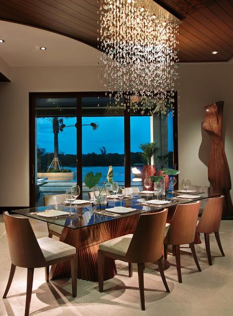 Boca Raton, FL tropical-dining-room
