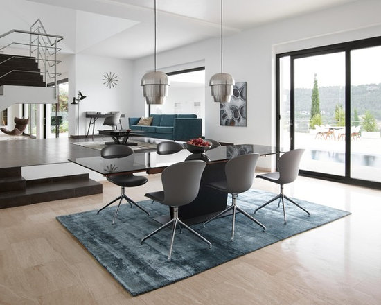 Modern Glass Dining Table Home Design Ideas Pictures  : modern dining room from houzz.com size 550 x 440 jpeg 59kB