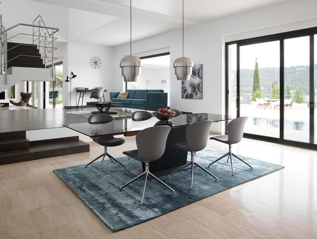 BoConcept Monza Dining Table & Adelaide Chairs modern-dining-room
