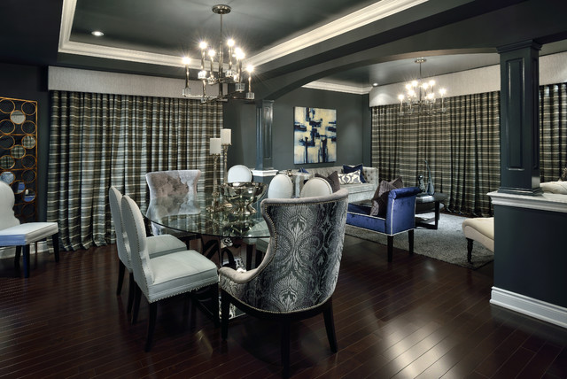 Bold sexy dramatic living room dining room