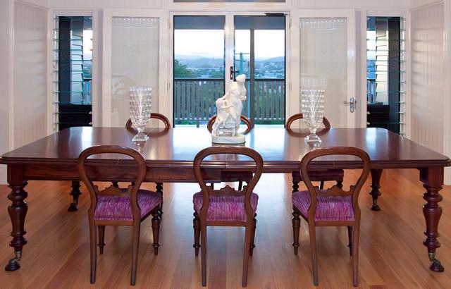 Bonney Ave Modern Queenslander Traditional Dining Room