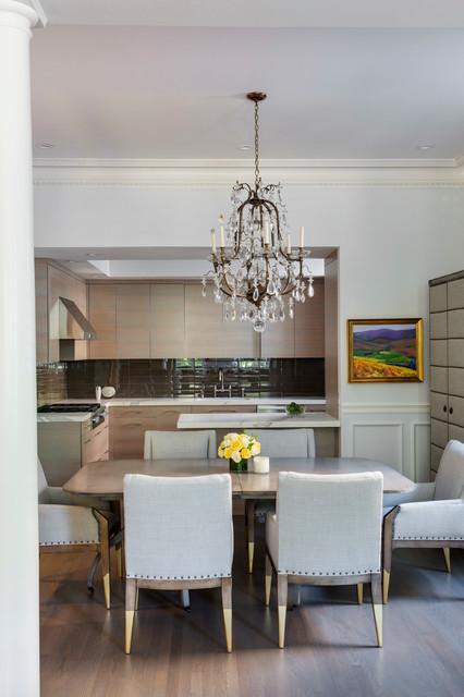 Boston Ma Contemporary White Oak Kitchen Modern Dining Room Boston By Newton Kitchens